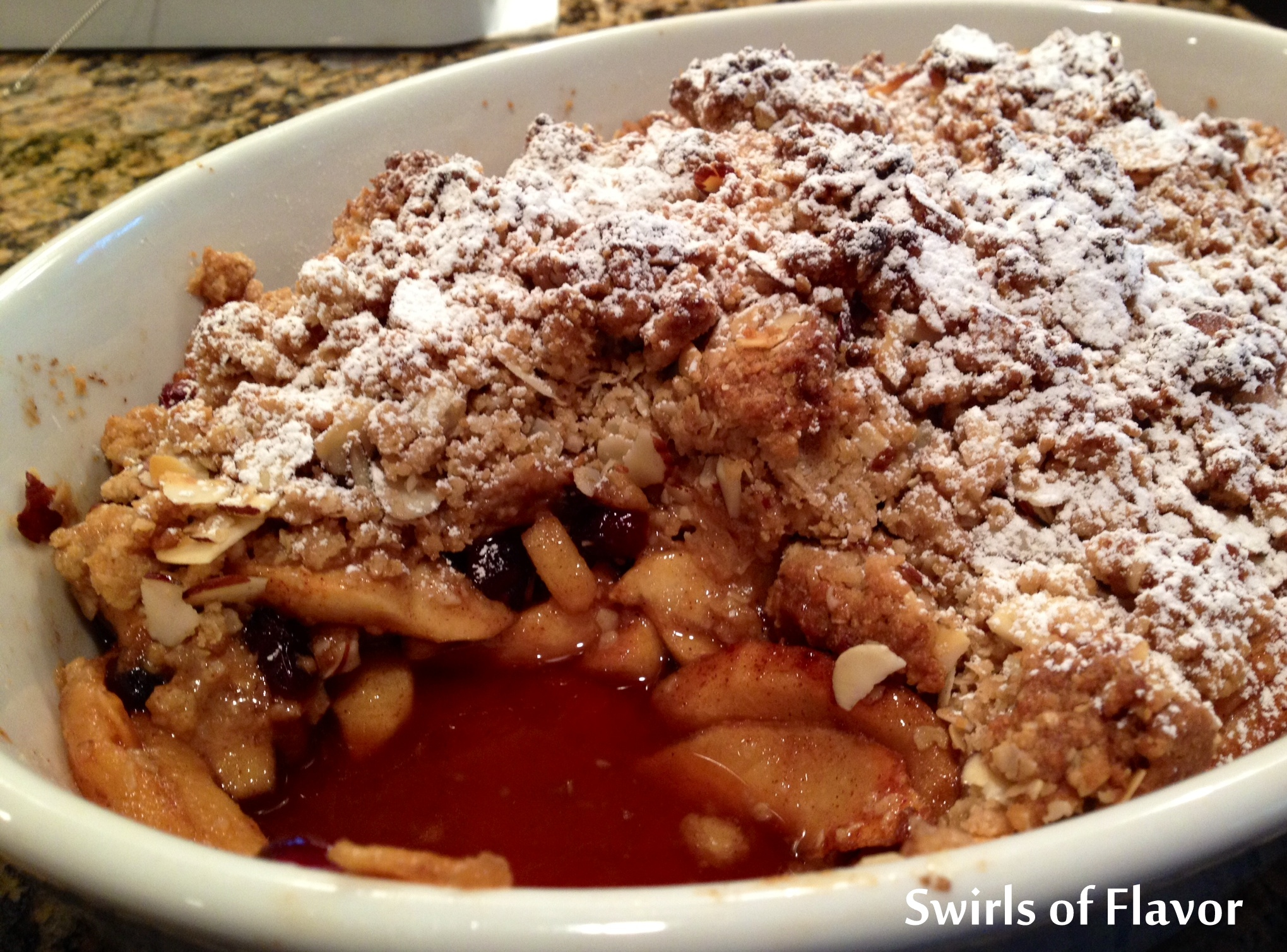 Oatmeal Cookie Apple Crisp - Swirls of Flavor