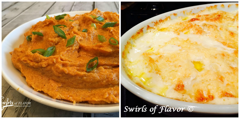 Spiced Sweet Potatoes and Potatoes Au Gratin