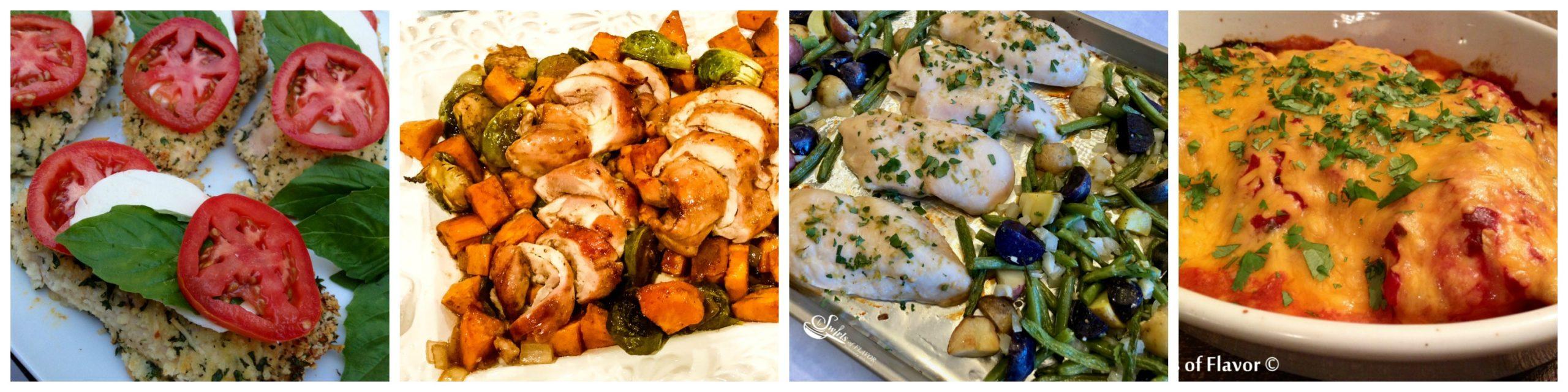 Four chicken recipes