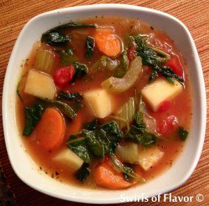 Kale soup bowl