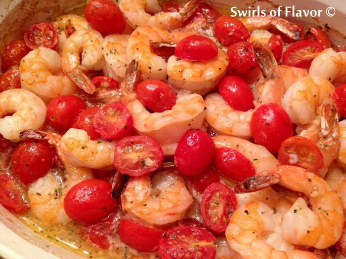 If shellfish is what you're craving then be sure to add Garlic & Herb Shrimp to the menu! This easy shrimp recipe makes it's own light buttery sauce flavored with garlic and white wine and studded with oven roasted tomatoes, as it bakes in the oven.