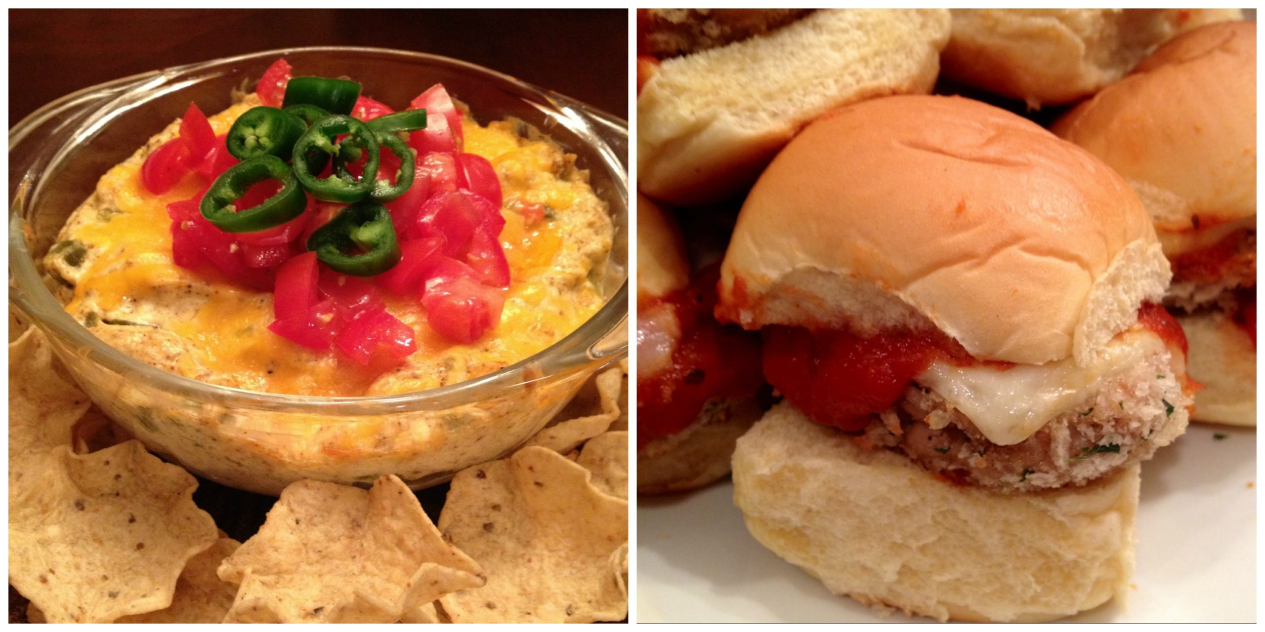 Jalapeno Popped Dip and Chicken Parmesan Sliders