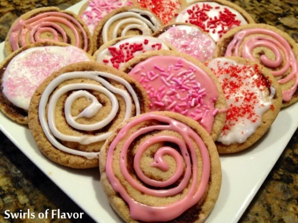 Cinnabun Swirl Valentine Sugar Cookies 1