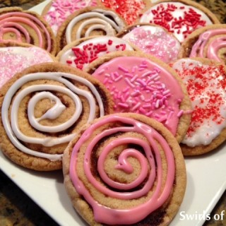 Cinnabun Swirl Valentine Sugar Cookies