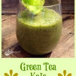 This Green Tea Kale Smoothie is brimming with kale, apple, banana and green tea, and has all the right ingredients for your optimum health! smoothie | green tea | kale | breakfast | healthy | snack | easy recipe | #swirlsofflavor