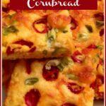 Jalapeno Cornbread on a platter