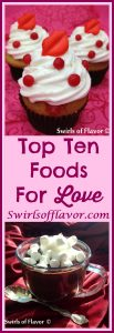 These Top Ten Foods For Love are known to have aphrodisiac abilities and are sure to spark your love! this Valentine's Day! aphrodisiac | love foods | chocolate | almonds | avocado | banana | basil | chili peppers | figs | honey | oysters | food for Valentine's Day