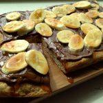 Caramel Banana Nutella Pizza