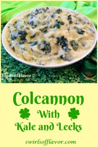 Colcannon With Kale and Leeks, made with the trendy super food kale, is a twist on the traditional colcannon recipe. Our Colcannon With Kale is an easy recipe made with Yukon gold potatoes and buttery leeks making it a delicious and creamy potato side dish.