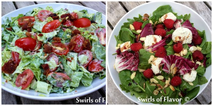 BLT Salad and Mixed Greens with Rapsberry Vinaigrette