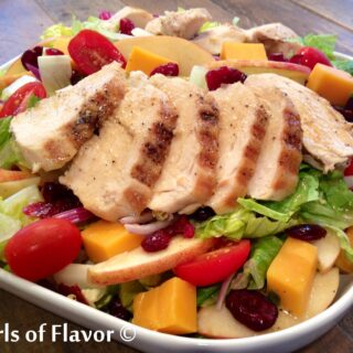 Apple Cheddar Chicken Salad with Maple Balsamic Vinaigrette