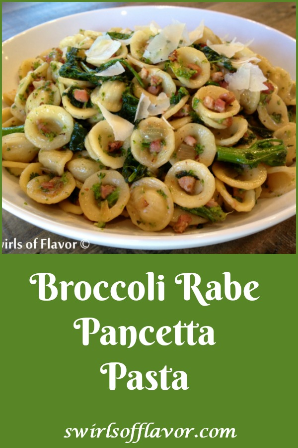 Broccoli Rabe Pancetta Pasta is a hearty pasta recipe that will warm you up on a chilly evening. This Italian recipe, bursting with nutritious broccoli rabe and bits of flavorful pancetta, will transport you to Italy in your very own kitchen. Orecchiette pasta, shaped like