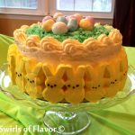 Bunny Peeps Lemon Layer Cake