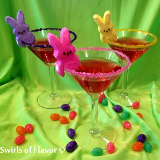 Bunny Peep-tinis are flavored with vanilla and strawberry offering the perfect flavor combination for spring and Easter holiday celebrations! vodka | vanilla vodka | cocktail | drinks | Easter | easy | recipe