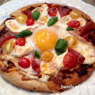 Smoked Mozzarella & Proscuitto Breakfast Pizza