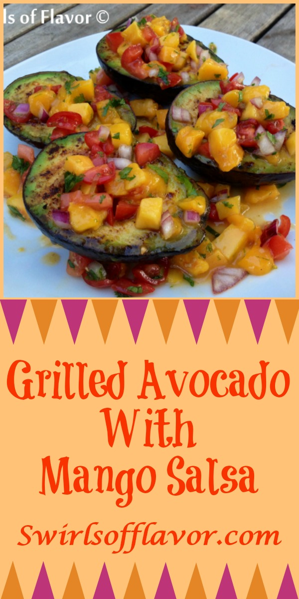 Enjoy Grilled Avocados With Mango Salsa when you're dining al fresco, lightly seasoned avocados are grilled to perfection and topped with a homemade lime-kissed mango salsa.