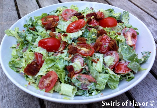 BLT Chopped Salad Tossed
