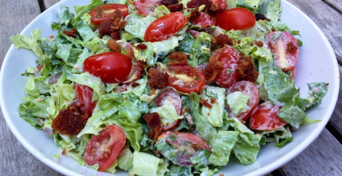 Chopped BLT Salad with Creamy Dill Dressing