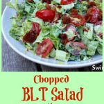 The BLT Sandwich, an all-American classic, is transformed into a Chopped BLT Salad With Creamy Dill Dressing. All the flavors of a BLT, bacon, lettuce and tomatoes in my homemade mayonnaise salad dressing, are in every bite of this refreshing chopped salad.