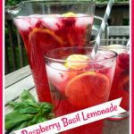 Raspberry Basil lemonade