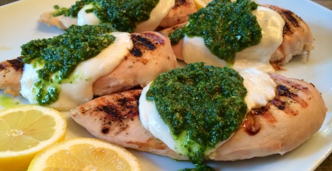 Grilled Tuscan Chicken & Kale Pesto
