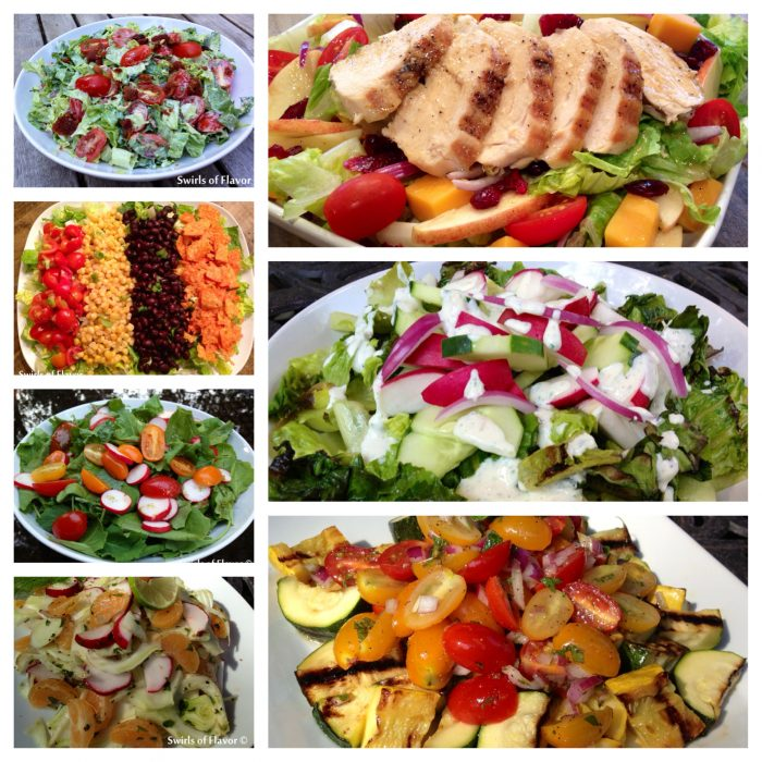 Best Ever Summer Salads! Look no further for fabulous summer salads bursting with the fresh produce of the season! Grill you salad, serve it with chicken, or keep it vegetarian! The choice is yours! grilling | salad | grilled romaine | vegetables | summer | potluck