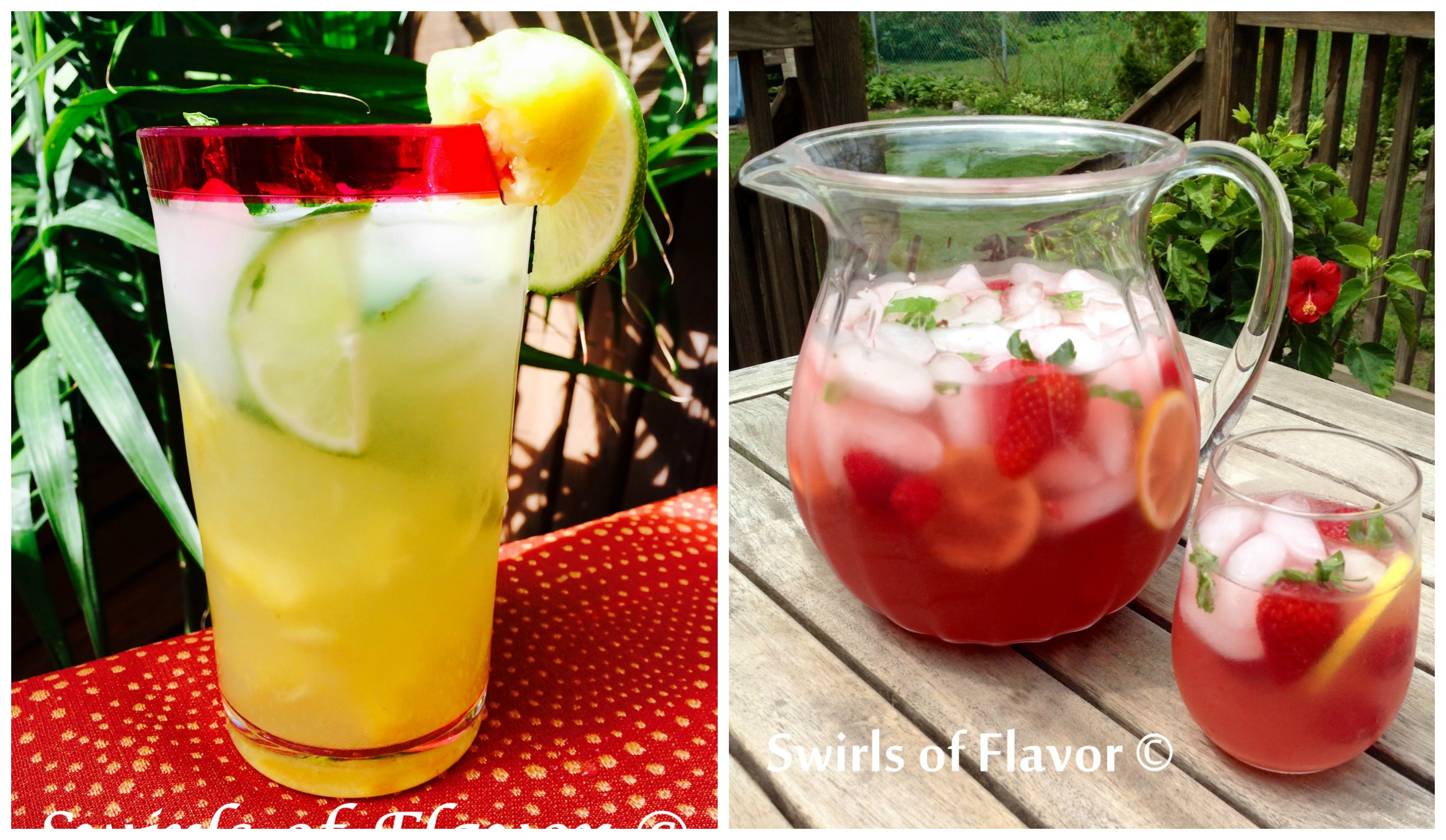 Pineapple Mojito Punch and Lemonade Prosecco Punch