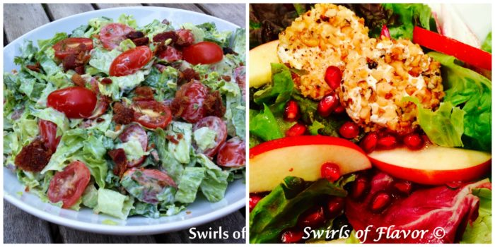 BLT Salad and Pomegranate Apple Salad