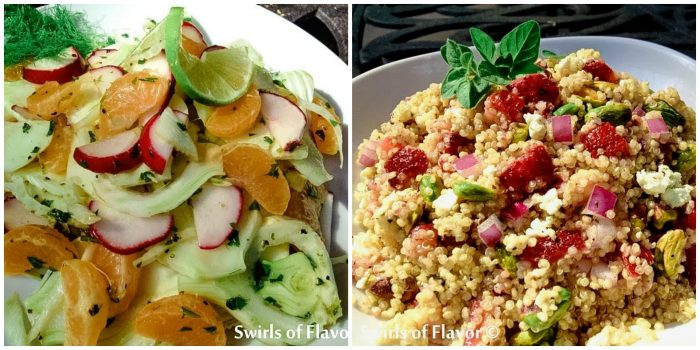 Fennel Salad and Strawberry Quinoa