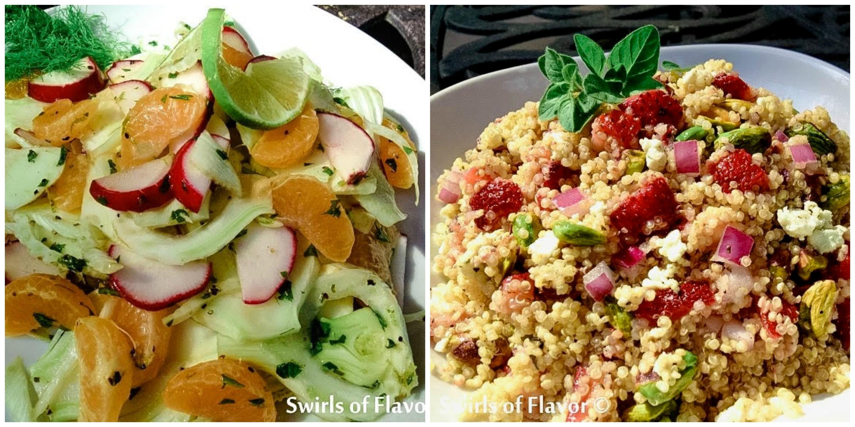 Fennel Salad and Strawberry Quinoa