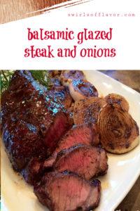 balsamic glazed steak and onions