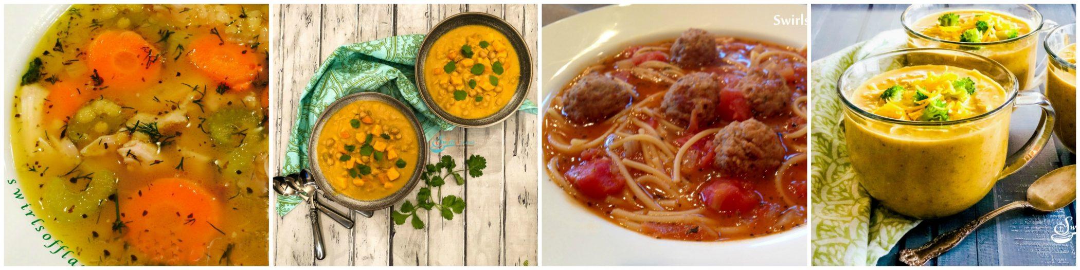 Photos of four soups