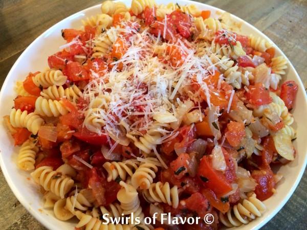 Oven Roasted Plum Tomato Sauce - Swirls of Flavor | Swirls of Flavor