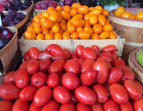 Plum Tomatoes Orange & Yellow