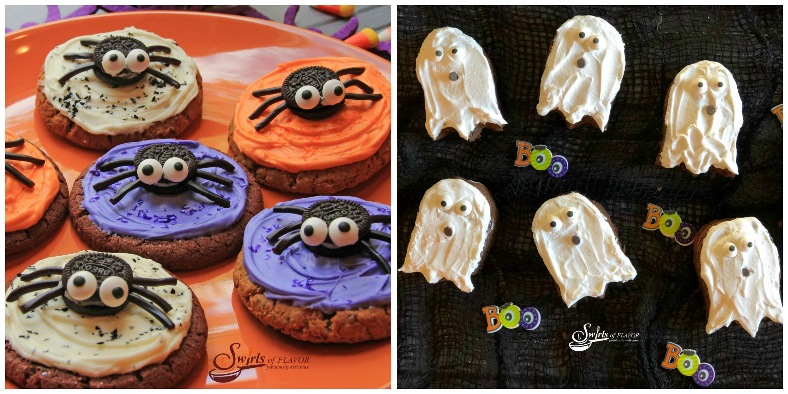Spider Cookies and Ghost Brownies