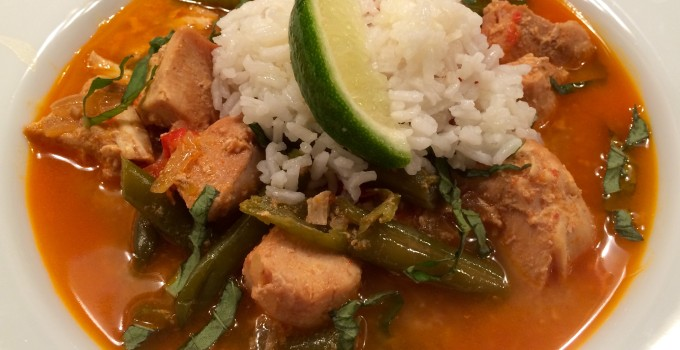 Slow Cooker Coconut Curry Thai Chicken