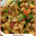 apples and fig stuffing with text overlay
