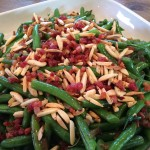 green beans with pancetta and almonds