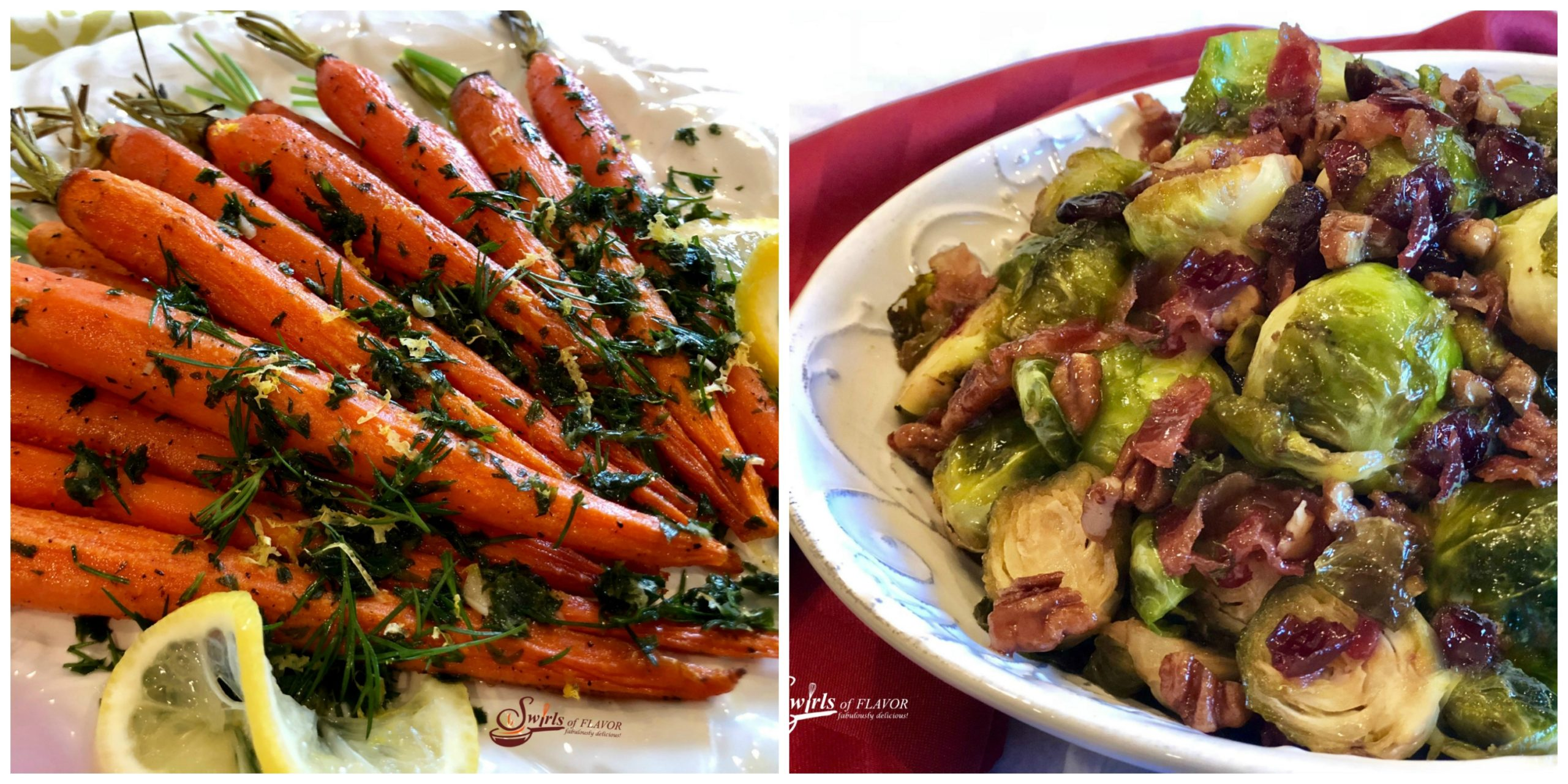 Roasted Carrots and Brown Sugar Brussels Sprouts