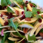 Pecan Pear Baby Kale Salad with White Balsamic Vinaigrette