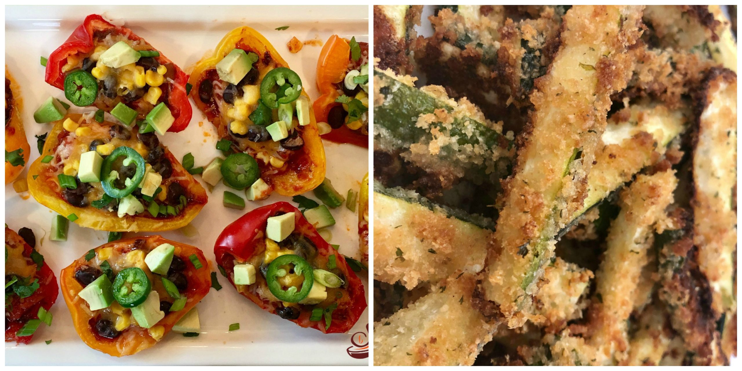 Nacho Peppers and Baked Zucchini Fries