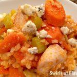 Slow Cooker Buffalo Chicken & Rice