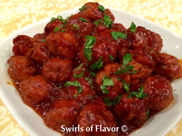 Slow Cooker Salsa Barbecue Turkey Meatballs