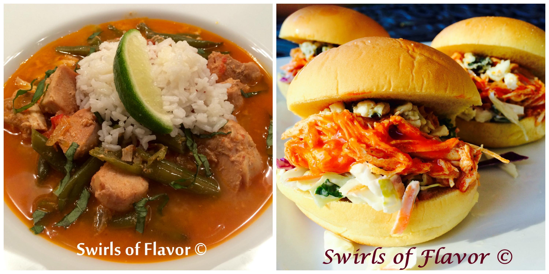 Thai Chicken and Buffalo Chicken