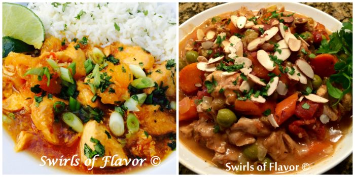 Pineapple Chicken Chili and Moroccan chicken