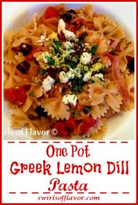 One Pot Greek Lemon Dill Pasta