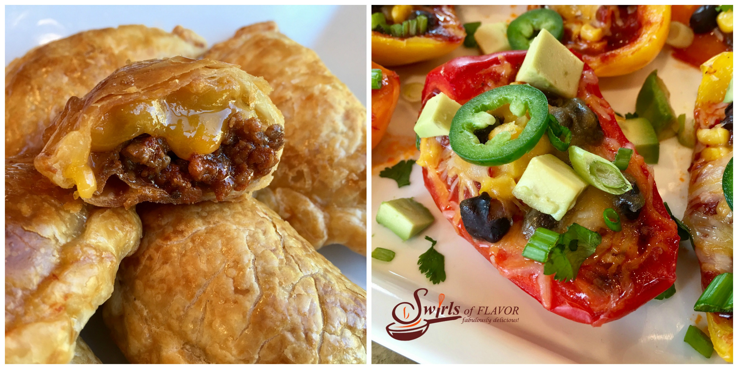 cheeseburger Empanadas ad Nacho Stuffed Peppers