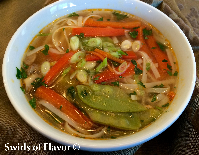 Thai Ginger Vegetable Noodle Soup
