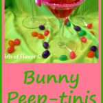Bunny Peep-tinis are flavored with vanilla and strawberry offering the perfect flavor combination for spring and Easter holiday celebrations! vodka | vanilla vodka | cocktail | drinks | Easter | easy | recipe | peeps | marshmallow | candy