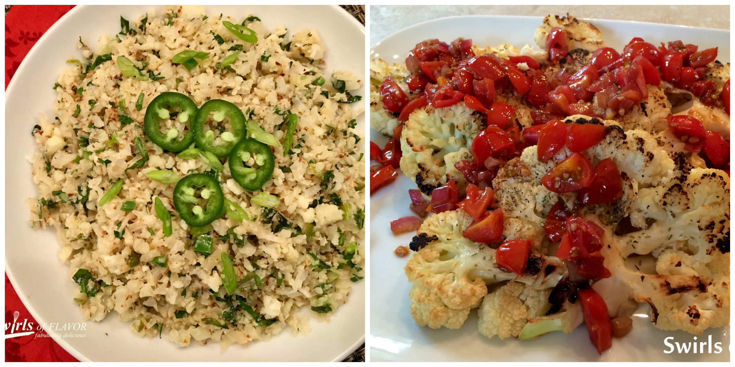 Cauliflower Rice and Cauliflower Steaks